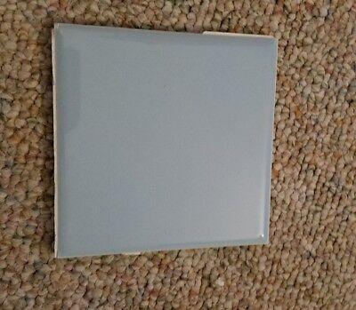 4x4 Ceramic Wall Tile (VINTAGE American Powder blue ceramic bathroom wall tile  4 1/4