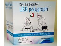 USB Polygraph Machine Real Home Lie Detector Test Testing Kit Truth Dare