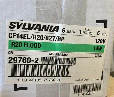12 Sylvania 29760 CF14EL/R20/827 Flood Screw Medium Base 2700K 120V CFL