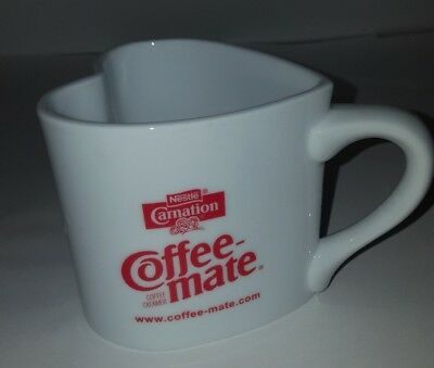 VINTAGE Carnation Coffee-Mate Creamer Heart shaped  Ceramic Mug        Carnation Coffee Mate Coffee Creamer