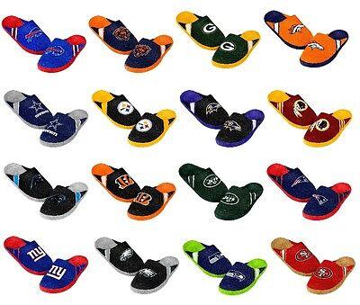 Men's Team Jersey Indoor/Outdoor Slippers ~ Pick Your Favorite Team & Size ~ NWT