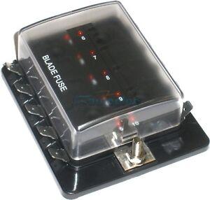 FUSE-HOLDER-BOX-10-WAY-CARAVAN-4X4-DUAL-BATTERY-SYSTEM-12-VOLT-12V-NEW