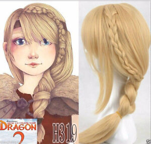 BRAND NEW: Astrid How To Train Your Dragon Blonde Braided Wig