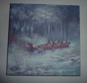 1 x 1 ft canvas picture with Santa
