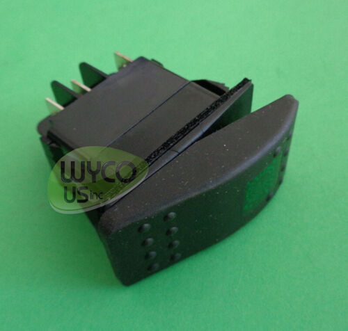 OEM SWITCH WITH GREEN LIGHT, 5 PRONGS, TENNANT 601107AM, 3E