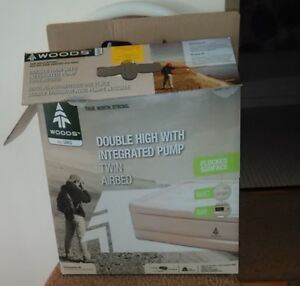Twin AIRBED, Extra High, Built-In Pump. Like New, Used Only Once