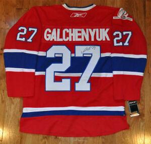 Alex Galchenyuk - Chandail Canadiens de Montréal Rouge Signé.