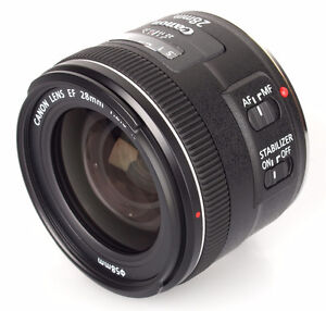 (like new) Canon EF 28mm f2.8 IS USM