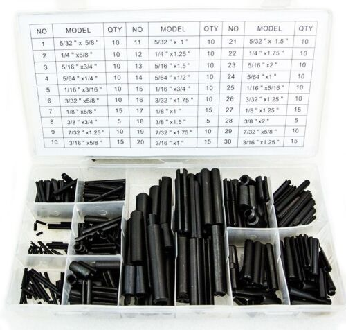 315 Pcs Roll Pin Assortment Set w/ case Roll Pin Parts NEW Tools 30 sizes