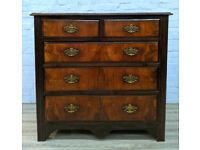 Victorian Mahogany & Walnut Chest Of Drawers