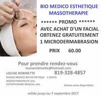 Microdermabrasion facial /Esthetique Bio Médical