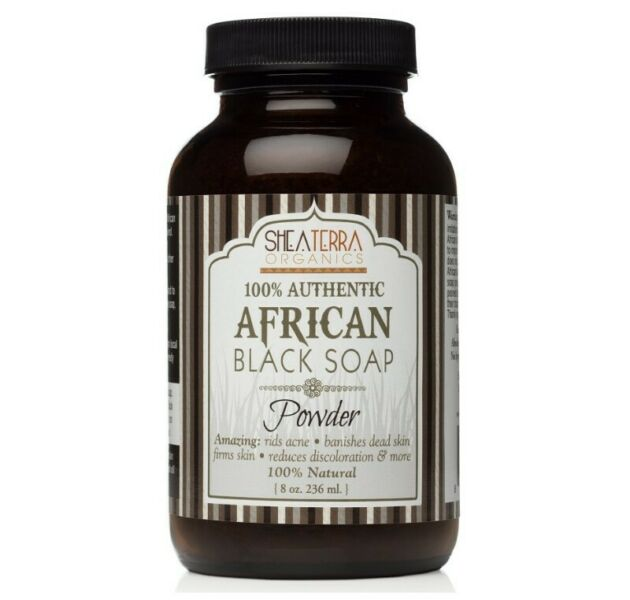 100% Pure Raw African Black Soap (8oz / 236ml)
