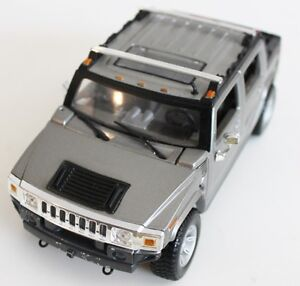 Hummer H2 Diecast Scale 1/27 Gray Color