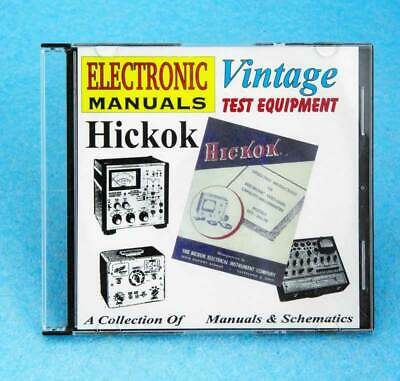 Hickok Test Equipment Manuals On Cd Oscilloscopes Tube Testers Signal Generator