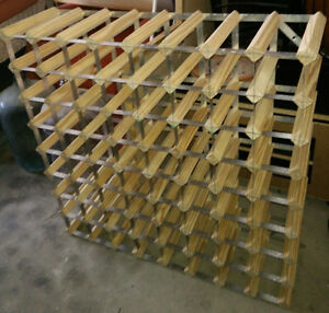 Large wine rack - holds up to 72 bottles, very good condition
