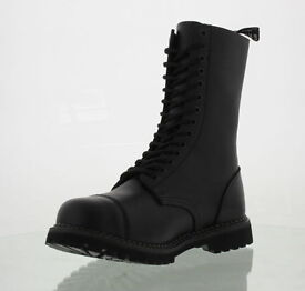 Grinders Herald Commando Sole Black Leather Steel Toe Cap Boots not DMs better than doc martens 11