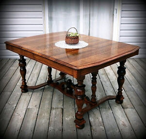 Old English Oak Dining Table