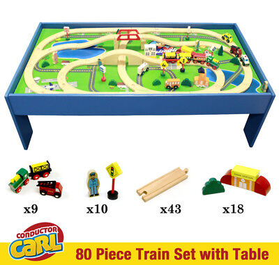 Conductor Carl Wooden Train and Track Set Toys Table Thomas Friends Chuggington Gear Set Toys