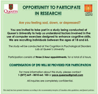 Opportunity to participate in research at Queen's University