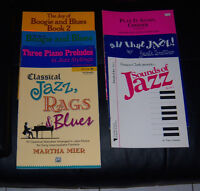7 cahiers pour piano, jazz, blues, boogie