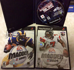 Playstation 2 games madden 2003 2004 PS2 Aggressive inline sport