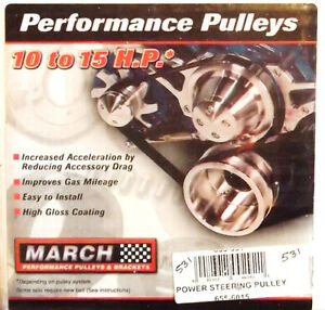 march #655-531 power steering poulie-aluminium.