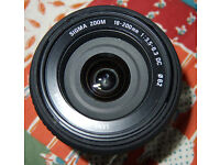 Sigma 18mm - 200mm macro zoom lens Nikon fit.