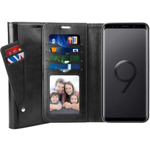Galaxy S9 Plus Case, SUPTMAX Samsung Galaxy S9 Plus Leather Wall