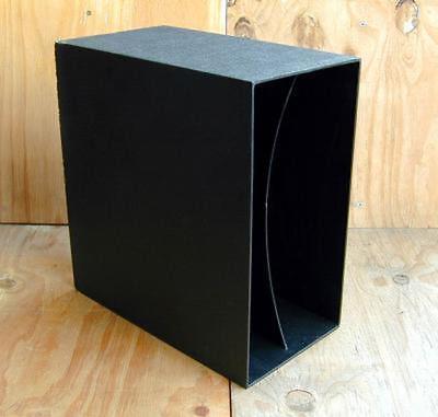 VINYL STORAGE -Box, 70er Jahre in schwarz, für ca. 40 s Vinyl LP