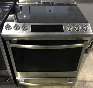 """GE 30"""" Glass Electric smooth top slide in Stove $1499 as tor"""
