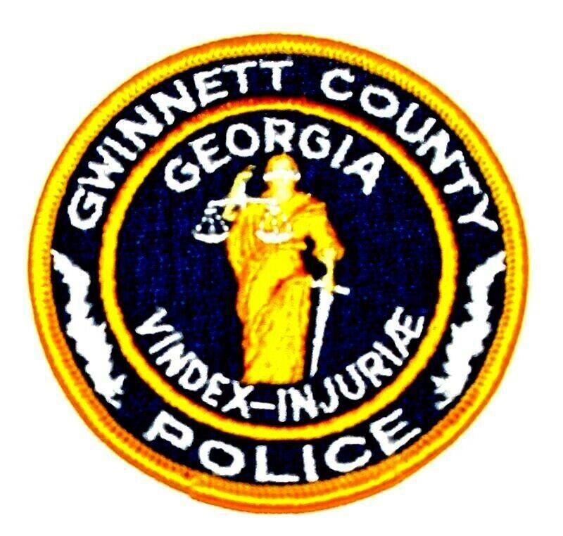 "GWINNETT COUNTY GEORGIA GA Sheriff Police Patch BLIND LADY JUSTICE 3.25""  ~"
