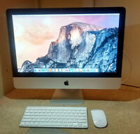 """I-Mac 21.5"""" desktop for sale new hard drive great condition"""