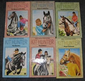 Set of 6 Kit hunter girls adventure stories horse books