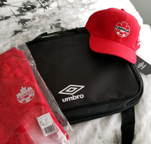 Umbro Laptop  bag, Jersey and Hat