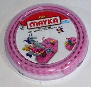 Mayka Toy Block Tape, 2 Stud Pink, 3.2 Feet - Compatible w Lego