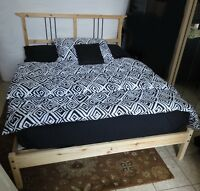 Ikea Solid Pine Double Bed - Free delivery
