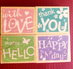 """Rubber Stamps by Hero Arts """" Word Confetti"""