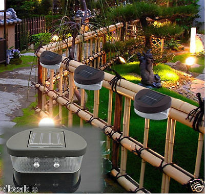 New Outdoor Solar Powered LED Path Wall Landscape Mount Light Lamp Garden Fence  for sale  USA