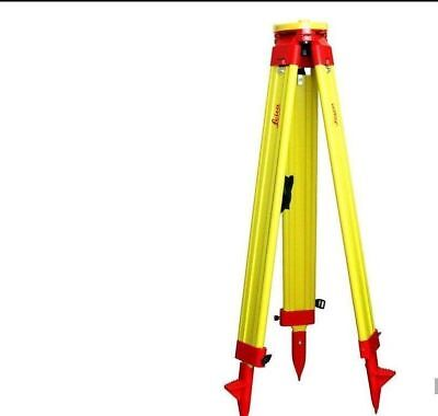 New Heavy Leica Wooden Tripod For Survey Instrument Total Station Level B