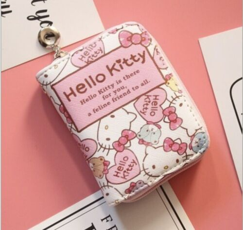 Hello Kitty Wallet Purse Pink Lovely Cute Gifts Cards Japan Handbag Presents