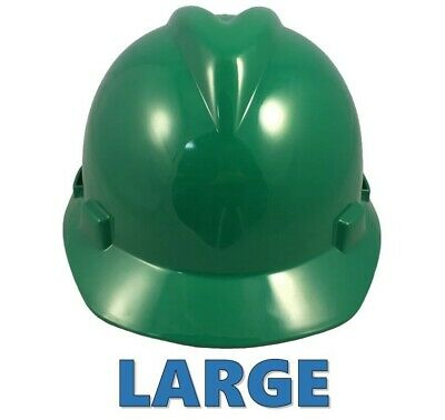 Msa Large Jumbo Cap Style Hard Hat With Staz On Suspension - Green
