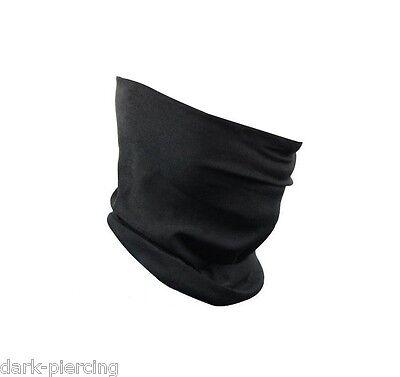 * Schwarzes Multifunktionstuch Halstuch Schlauchtuch Kopftuch Motorrad Outdoor *