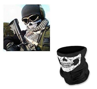 *bandanashop24* SKULL FACE Multifunktionstuch,Schlauchtuch,Halstuch,Motorrad