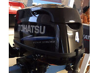 Tohatsu 4hp 4 Stroke Outboard Engine - Like New