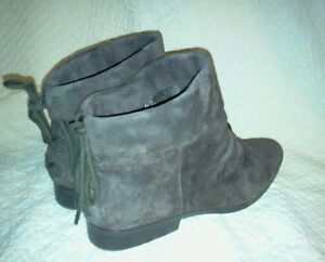 lands end ankle boots 8 5m genuine suede leather
