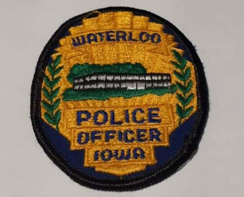 Waterloo Iowa IA US Police Patch Vintage