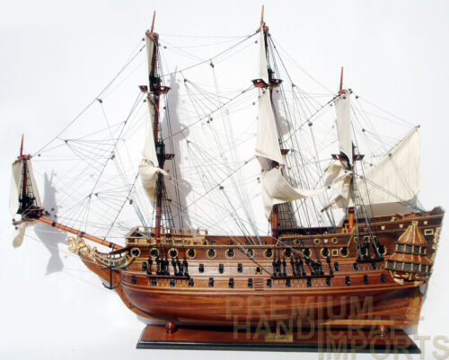 HMS Prince Display Wooden Ship Model