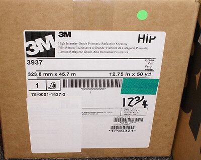 3m 3937 Green Sign Maker Vinyl 12.75x150 3930 High Intensity Prismatic Reflect