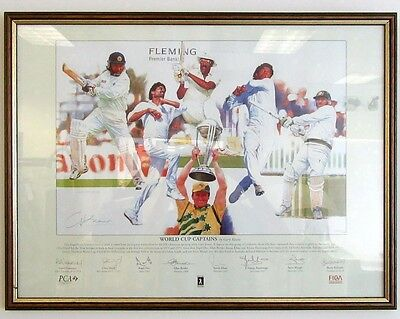 Cricket World Cup Captains Print Gary Keane 214/500 - 25 x 19 LIMITED EDITION