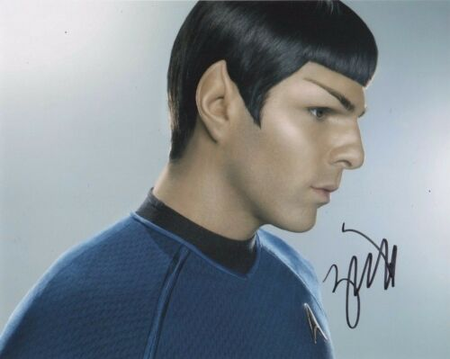 Autographs-original Zachary Quinto Signed Authentic Star Trek Spock 8x10 Photo Coa Into Darkness Latest Technology Entertainment Memorabilia